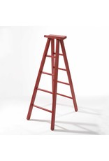 Kurt Adler Christmas Display Ladder 18 inch Wooden Red Hinged Ladder