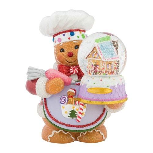 Christopher Radko Snow Globe Ginger Cakes Gingerbread Man Snowglobe