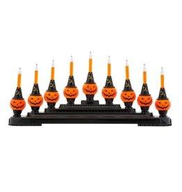 Christopher Radko Shiny Brite Halloween 9 Bubble Light Pumpkin Candolier