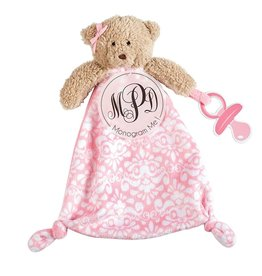 Mud Pie Pacy Pals Cuddler Pacifier Holder Strap Monogrammable - Bear
