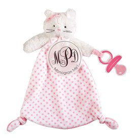 Mud Pie Pacy Pals Cuddler Pacifier Holder Strap Monogrammable - Cat