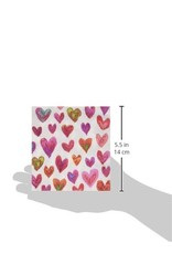 Caspari Paper Cocktail Beverage Napkins 20pk Happy Hearts