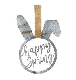 Mud Pie Metal Bunny Door Hanger w Happy Spring 27x16.5
