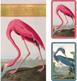 Caspari Bridge Gift Set w 2 Card Decks 2 Score Pads - Audubon Birds