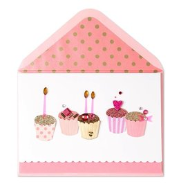 PAPYRUS® Birthday Cards Fabulous Handmade Birthday Cupcakes