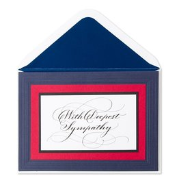 PAPYRUS® Sympathy Card With Deepest Sympathy Red White Blue