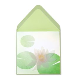 Papyrus Greetings Sympathy Card Lotus Flower Sculpture