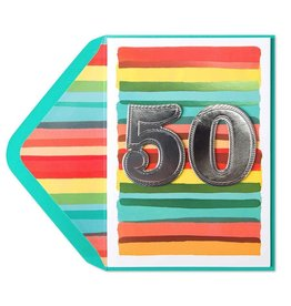 PAPYRUS® Birthday Card 50th Watercolor 50th Birthday