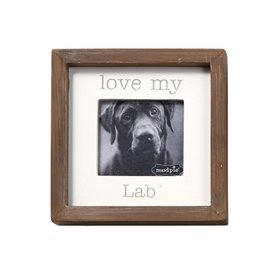 Mud Pie Love My Lab Dog Breed Small Photo Plaque Pet Gift 5x5in