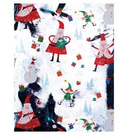 Papyrus Christmas Gift Wrapping Paper 8FT Roll Joyful Santa