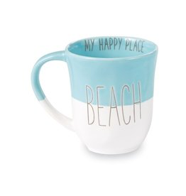 Mud Pie Beach House Coffee Mug w Beach - My Happy Place