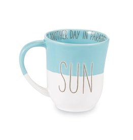 Mud Pie Beach House Coffee Mug w SUN- Just Another Day in Paradise