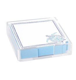Lilly Pulitzer® Note Pad In Acrylic Holder 5.5 Sq inches - Turtley Awesome