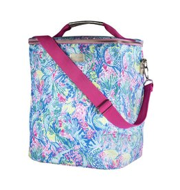 Lilly Pulitzer® Insulated Wine Carrier Beverage Cooler - Mermaids Cove