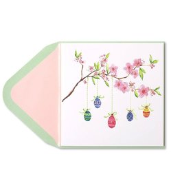 Papyrus Greetings Easter Card Eggs Hanging From Branches