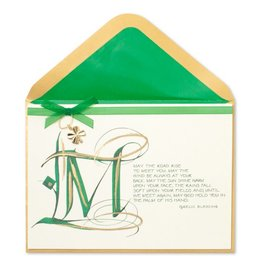 Papyrus Greetings St Patricks Day Card w Irish Gaelic Blessing