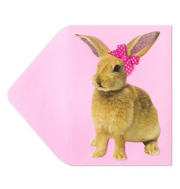 Papyrus Greetings Easter Card Easter Bunny w Bow Some Bunny Loves You