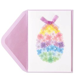 Papyrus Greetings Easter Card Floral Pastel Egg