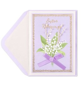 PAPYRUS® Easter Card Lily of the Valley Easter Blessings