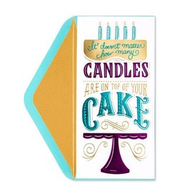 PAPYRUS® Birthday Card Candles On Top Of Your Cake