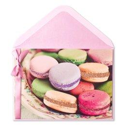 Papyrus Greetings Birthday Card Birthday Macarons w Eiffel Tower Shaped Charm
