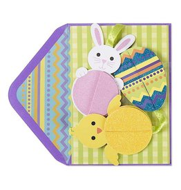Papyrus Greetings Easter Card Easter Egg Bunny and Chic Mobile Card