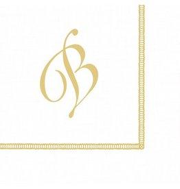 Caspari Monogram Initial B Paper Cocktail Napkins 20pk