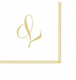 Caspari Monogram Initial L Paper Cocktail Napkins 20pk
