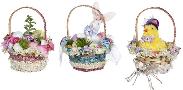 Mark Roberts Fairies Easter Baskets Set of 3  51-97686 Bunny Chic n Eggs