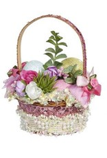 Mark Roberts Fairies Easter Basket Decoration w Flowers and Eggs