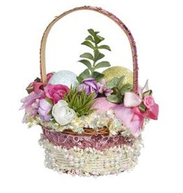 Mark Roberts Fairies Easter Basket Decoration Florals w Eggs