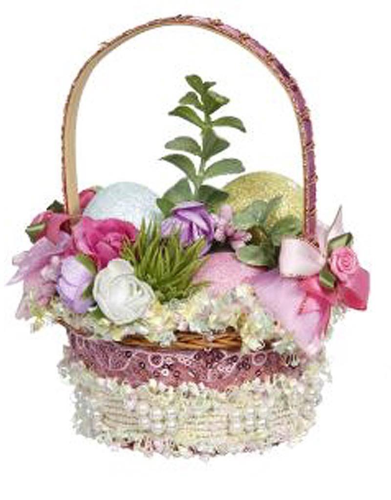 Mark Roberts Fairies Easter Basket Decoration Florals w Eggs