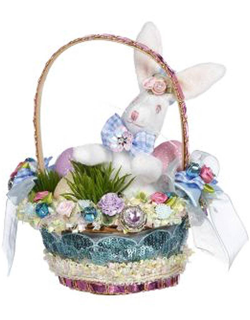 Mark Roberts Fairies Easter Basket Decoration Florals w Bunny
