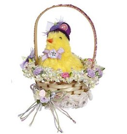 Mark Roberts Fairies Easter Basket Decoration Florals w Chic