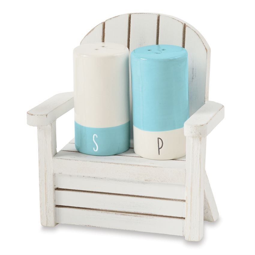 Mud Pie Beach House Beach Chair Salt and Pepper Shakers Set