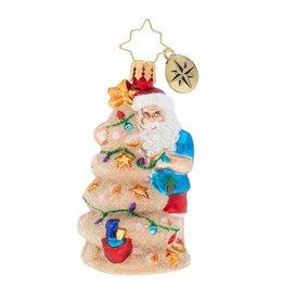 Christopher Radko Santa Christmas in the Sand Little Gem Ornament