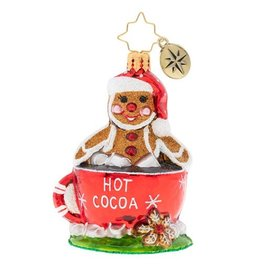Christopher Radko Soaking Up The Holidays Gem Hot Cocoa Christmas Ornament