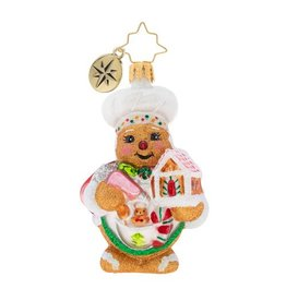 Christopher Radko Sweetest Chef Around Gem Gingerbread Man Christmas Ornament