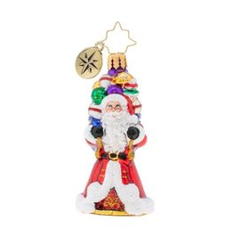 Christopher Radko It Aint Heavy Gem Santa Christmas Ornament