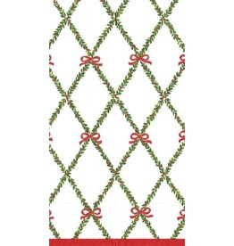 Caspari Christmas Paper Guest Napkins 15pk 12730G Garland Trellis