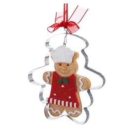 Kurt Adler Gingerbread Man In Cookie Cutter Christmas Ornament