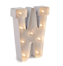 Darice LED Light Up Marquee Letter W 5915-799 White Metal
