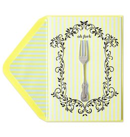 PAPYRUS® Belated Birthday Card Oh Fork by Papyrus