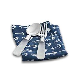 Harman Anchors on Blue Set of 4 Cotton Napkins 18x18