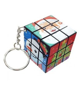 Kurt Adler Stocking Stuffer Mini Rubiks Cube Christmas Key Chain