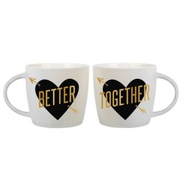 Slant Ceramic Mugs Set of 2 14oz F161109 Better Together