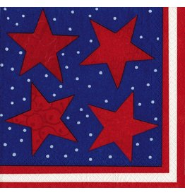 Caspari Paper Napkins 11130L Stary Night July 4th Napkins