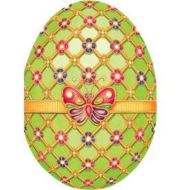 Caspari Easter Card 86412.15 Imperial  Egg Easter Card