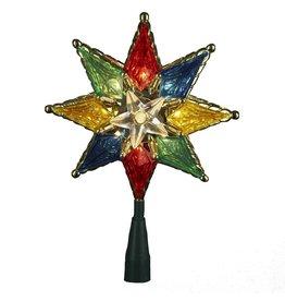 Kurt Adler Christmas Star Tree Topper 8-Inch Mulit Color 8PT Star