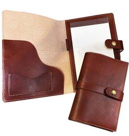 White Wing Label Leather Portfolio Medium 10x7 in Chestnut
